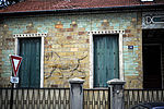 Façade de la maison aux lions, rue Camille-Groult © Sylvain Lefeuvre