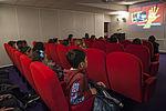 """""""La bib"""", c'est aussi un auditorium et ses rendez-vous cinémas gratuits comme : le ciné-club, ciné-marmot, ciné-vacances... © Sylvain Lefeuvre"""