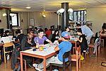 Chaque année, la bibliothèque étend ses plages horaires d'ouverture pour accueillir les étudiants désireux d'un espace studieux de révisions. © Michel Aumercier