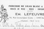 En-tête d'un établissement de Vitry dont la spécialité était le forçage des Lilas © Archives municipales