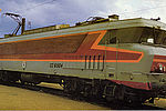 """Locomotive CC 6504 """"Ville de Vitry-sur-Seine"""" - 13 juin 1981Cette motrice assure la remorque des trains rapides et de marchandises sur la région sud-ouest © Archives municipales"""