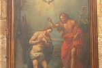 Tableau représentant le baptême du Christ © DR