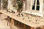 Exposition des objets réalisés lors des ateliers manuels à Saint-Georges de Didonne en 1966. NC, album photos