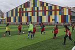 Stade Georges-Gosnat, le nouveau terrain synthétique fait l'unanimité.